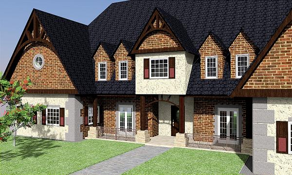 Luxury dream home plans brick for Luxury brick house plans