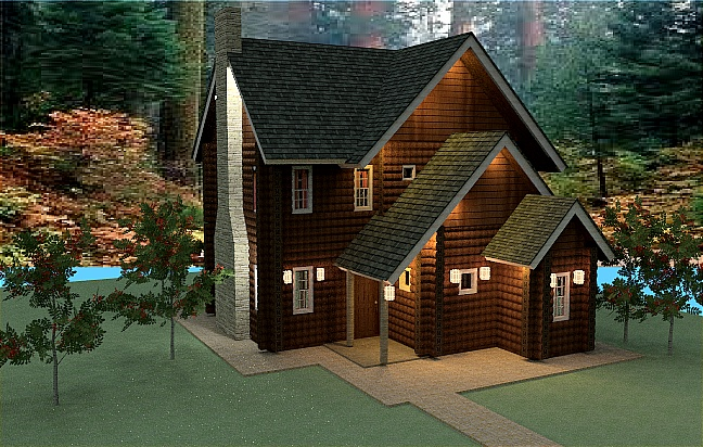 Log House Floor Plan