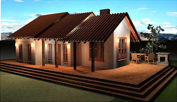 Small cottage house Floor Plan