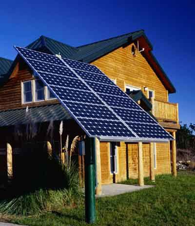 eco sustainable home using photovoltaic solar panel
