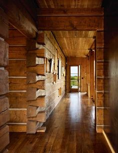 Hall ways of Log house