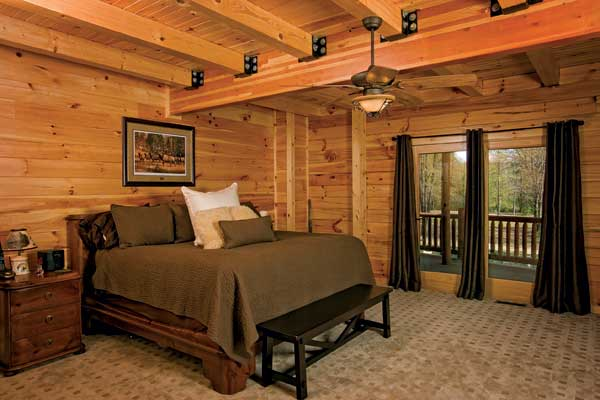 bed room of Log house