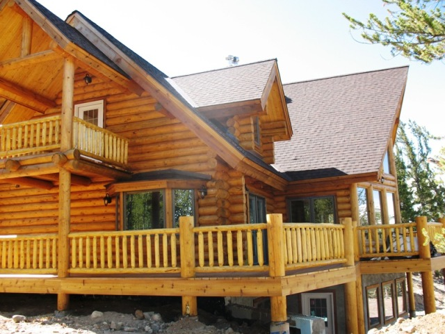 deck of Log house