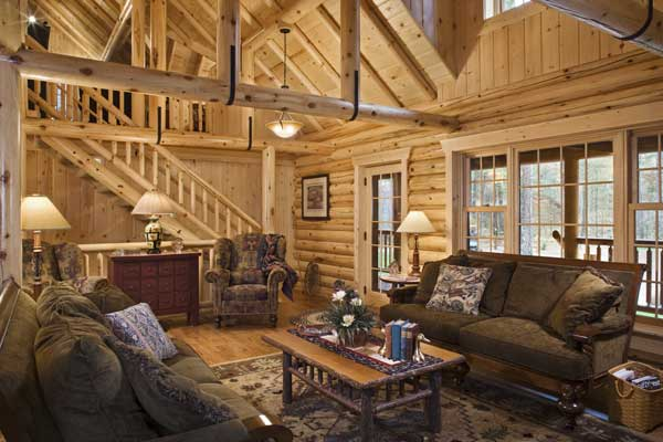 living room of Log house