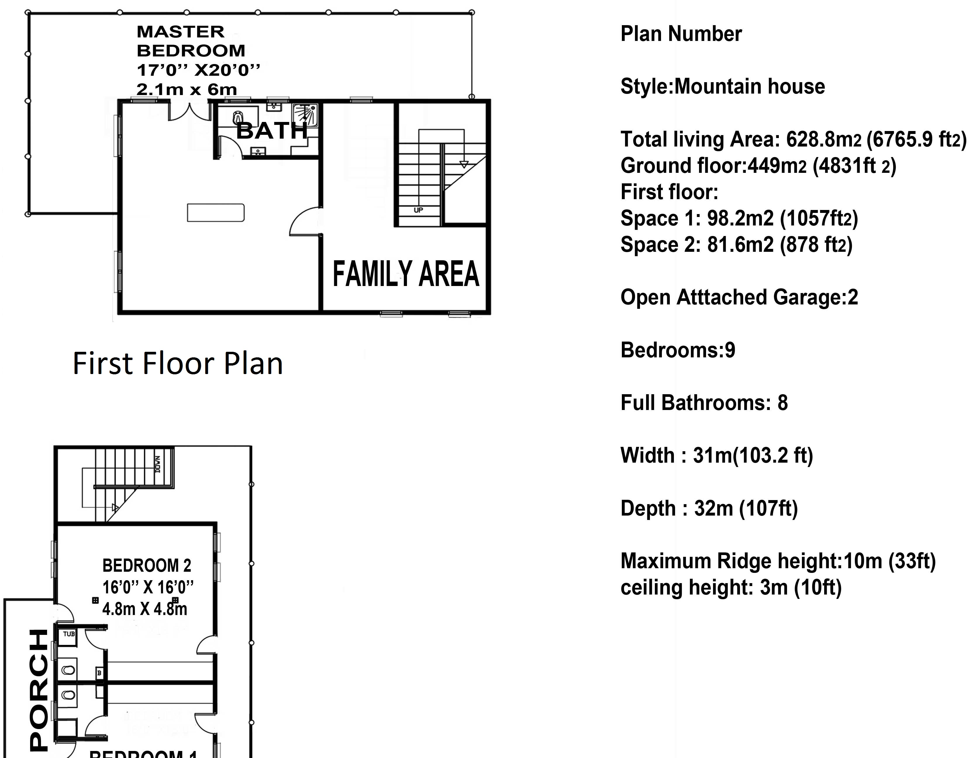 Indonesian First House Floor Plan