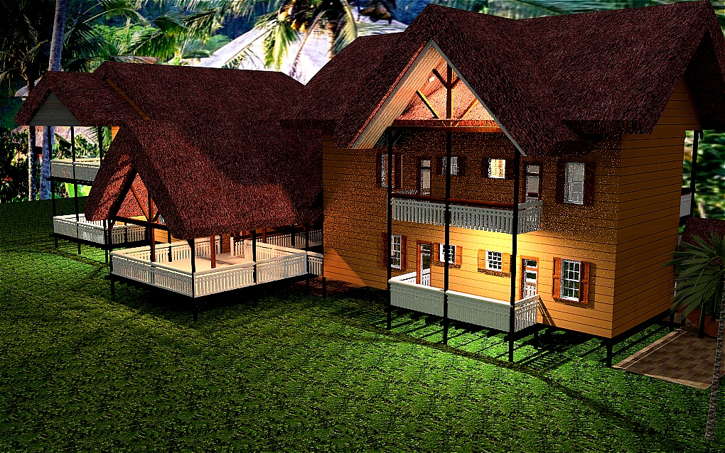 Free thatch house plans home design and style for Thatched house plans