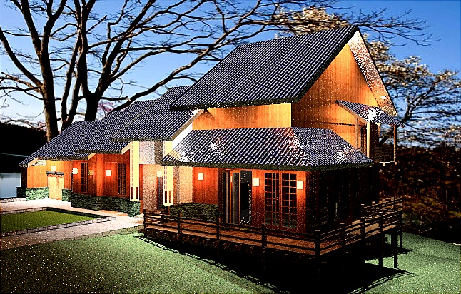 Traditional japanese housing plans home design and style for Asian home design