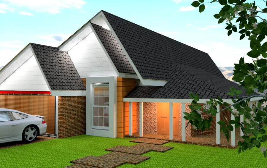 Brick house plan