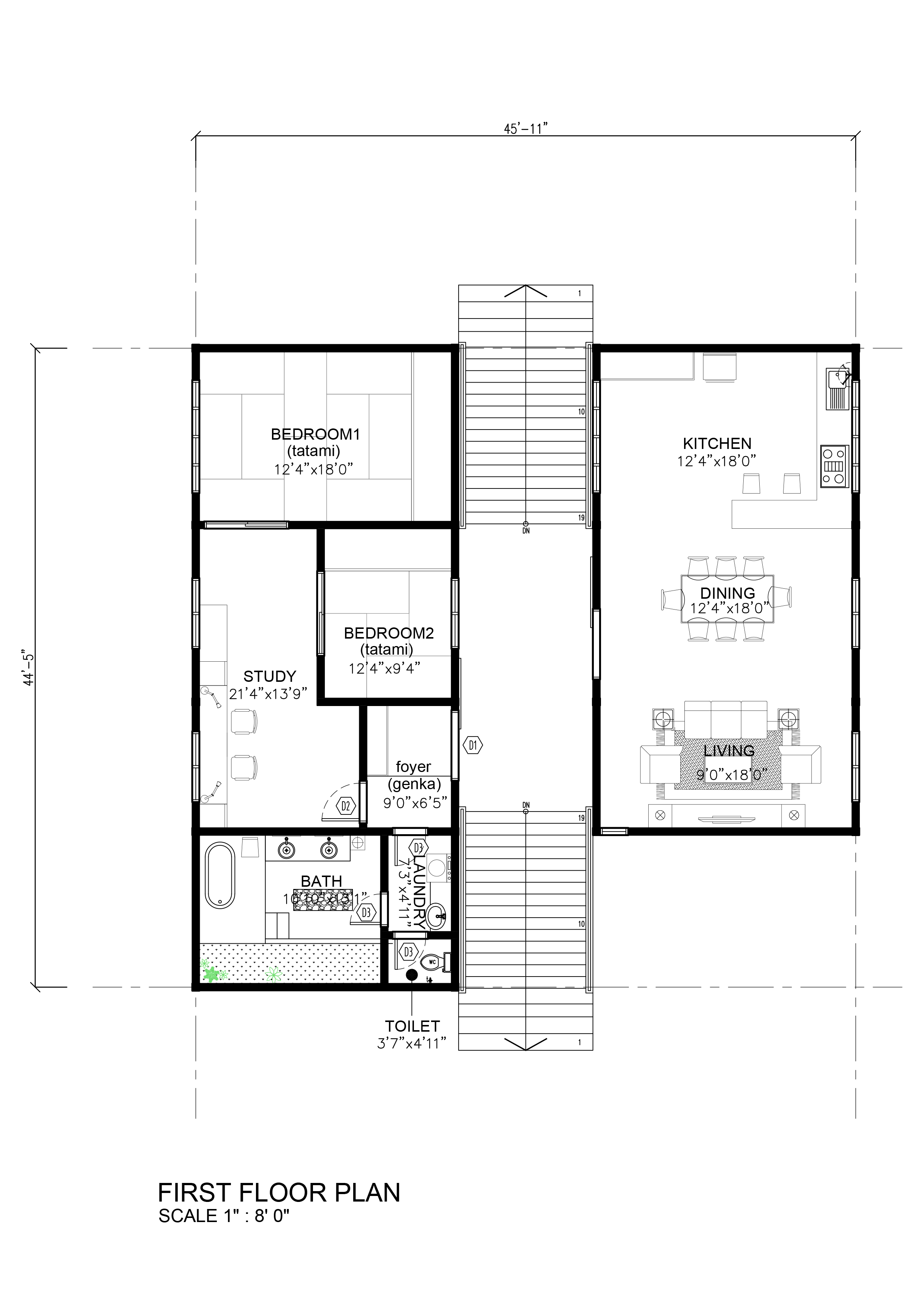 SDA Architect Category Japanese house plans – House Floor Plans To Scale