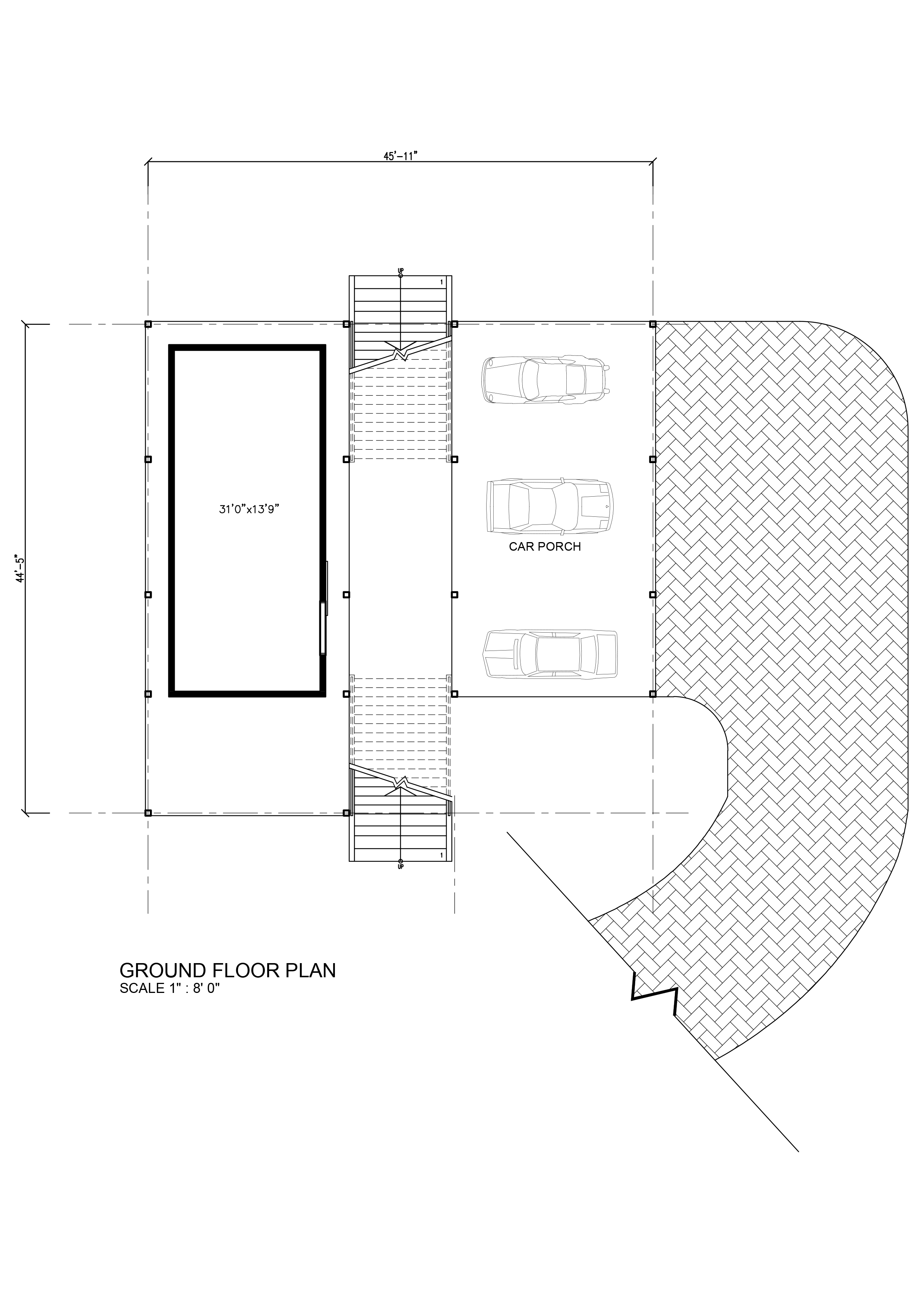 Modern zero lot line house plans for Floor plans zero lot line